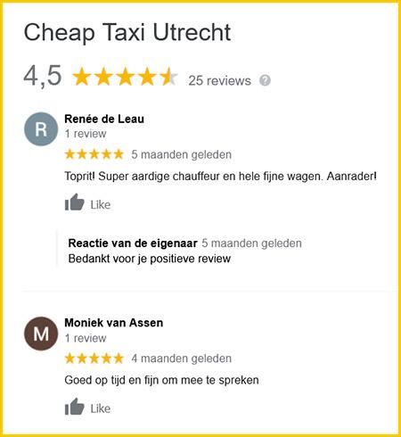 Google reviews van klanten